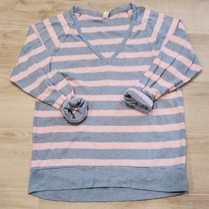 TNA Striped 3/4 Sleeve Top Size XS